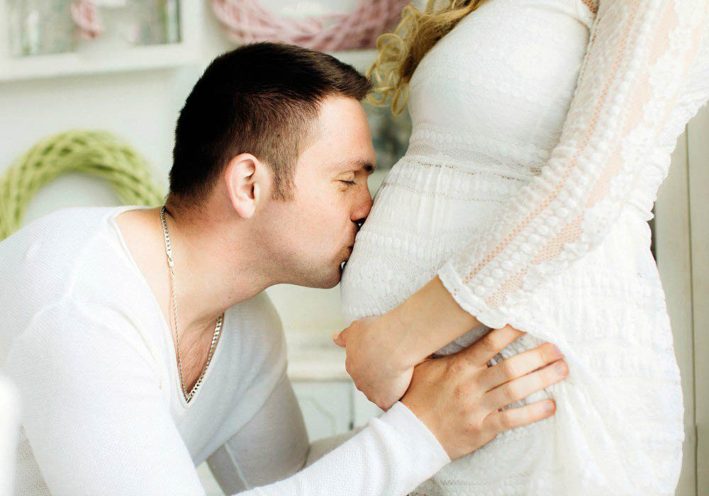муж во время беременности помогает
