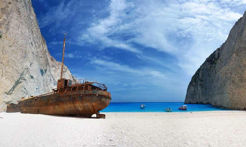 Бухта Навагио Греция