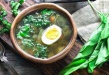 Зеленый борщ рецепт